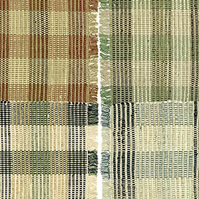 Booker Plaid Cotton Area Rag Rugs 2 x 3 Bathroom Kitchen Entry
