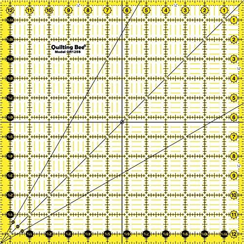 """Quilting Bee """"EZ Eyes"""" 12.5"""" x 12.5"""" Premium Quilting Ruler (QR125S)"""