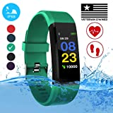 Burn-Rate Fitness Tracker, Heart Rate Monitor - Smart Watches for Women & Men, Color Smart Watch Bracelet. Reloj Inteligente Pedometer, Distance Activity for Android & iPhones iOS (Color: Aqua Green)