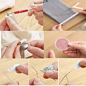 130 Mini Sewing Kit, Southsun DIY Premium Sewing Supplies for Kids, Beginner, Travel, Emergency with Scissors, Thimble, Thread, Needles, Tape Measure,