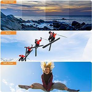 APEMAN Native 4K Action Camera TRAWO with 4K EIS, 20MP Sharp Images, 2'' IPS Screen, WiFi, Longer Battery Life (Color: 4K 20MP, Tamaño: 4K 20 MP)