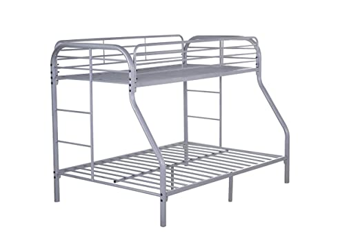 Glory Furniture G0017-GRAY Bunk Bed, Twin, Gray