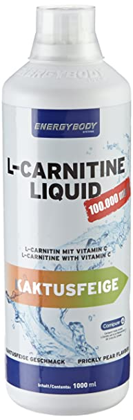 Energybody L-Carnitin Liquid 100.000mg Kaktusfeige 1000ml, 1er Pack (1 x 1 l)