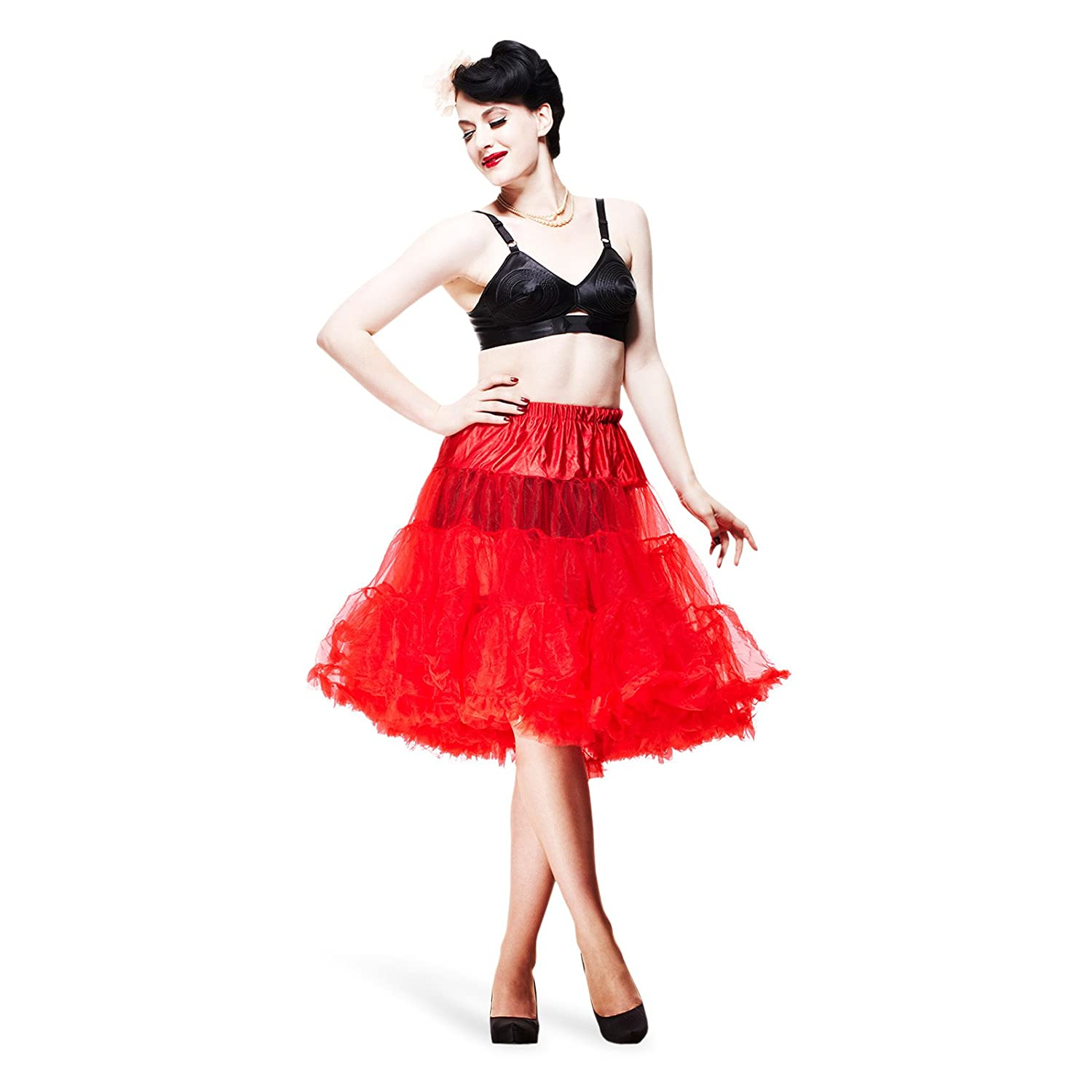 Hell Bunny Petticoat SWING LONG red/red