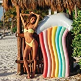 FUNBOY Rainbow Lounger Giant Inflatable Rainbow Lounger Pool Float