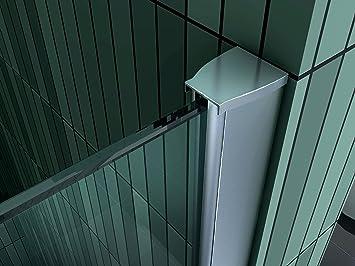 paroi de douche pare-douche verre de securite 10mm douche a l italienne barre de stabilisation ronde Bremen 2 90x200