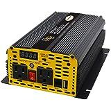 Go Power! GP-1000 1000-Watt Modified Sine Wave Inverter (Color: Yellow, Tamaño: 1000)