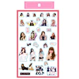 Blackpink Lisa Rose Jisoo Jennie Kpop Cute Stickers for Laptop Car Decoration Cellphone Decal (Blackpink, 2pcs) (Color: 2pcs, Tamaño: Blackpink)