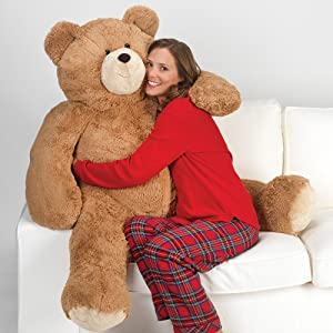 Vermont Teddy Bear Giant Teddy Bear - Big Teddy Bear for Girlfriend or Loved One, Custom, 4 Foot (Color: 4 Foot Big Bear)