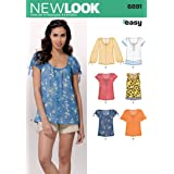 Simplicity New Look Easy Pattern 6891 Misses Pull-On Tops with Variations at Sleeve Sizes 10-12-14-16-18-20-22 (Tamaño: A (10-12-14-16-18-20-22))