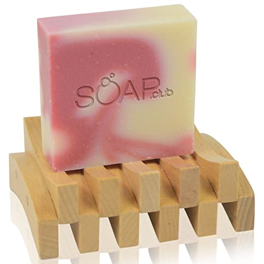 Coconut Oil Soap with Shea Butter, Olive Oil & Plumeria Essential Oils - Natural & Organic Ingredients By Soap.Club Handmade Bath & Body Skin Care Products With Moisturizing Lotion - Reduces Wrinkles & Blemishes - Stop Dry Skin Now!