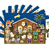 ceiba tree Nativity Stickers 12 Sets Make-A-Nativity Scene Sticker for Christmas Crafts School Supply VBS Classroom Activity (Color: Christmas Sticker Scenes)
