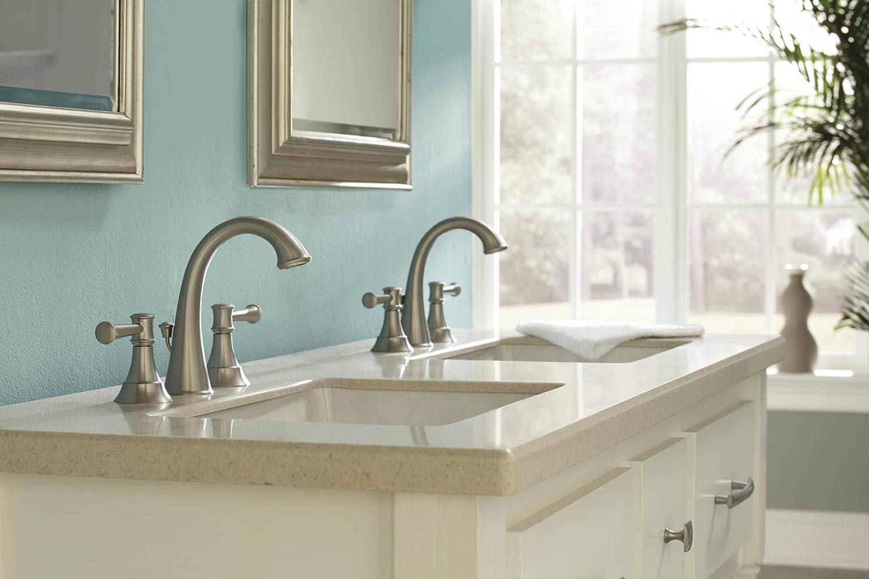 Moen 84778MSRN Ashville Widespread Bathroom Faucet