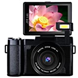 Digital Camera Vlogging Camera Full HD1080p 24.0MP Camcorder 3.0 Inch Flip Screen Camera with Retractable Flashlight (Color: A1)