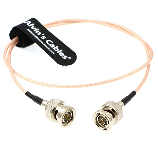 Alvin's Cables HD SDI Video BNC Male 3G RG179 Cable for BMCC Video Out Blackmagic Camera 1M (Color: Straight to Straight 1M)