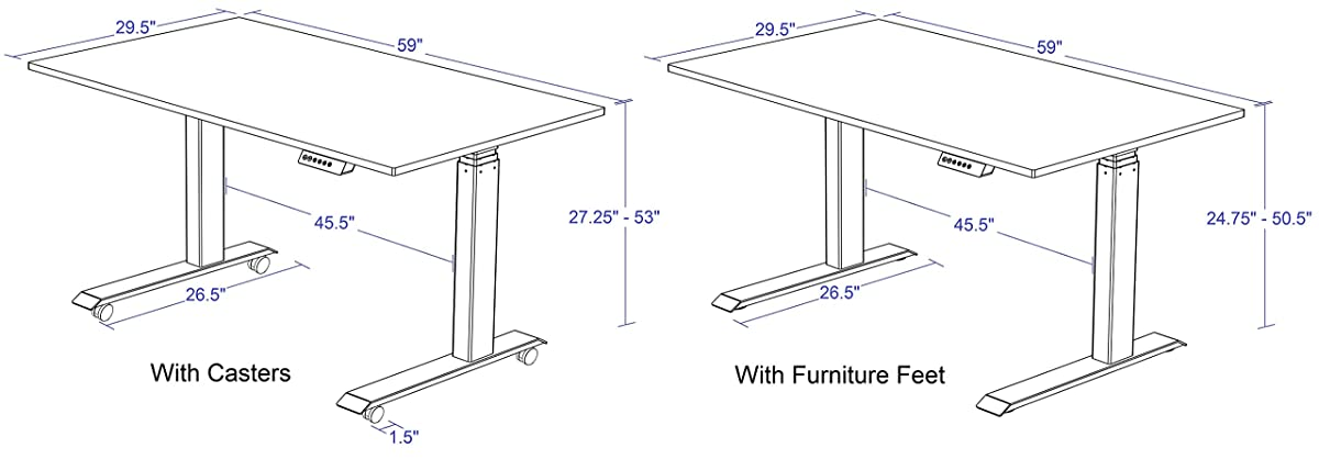 Awe Inspiring 60 Electric Stand Up Desk Adjust From Sitting To A Download Free Architecture Designs Grimeyleaguecom