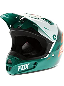 Casque Motocross Enfant Fox 2015 V1 Vandal Vert-Orange