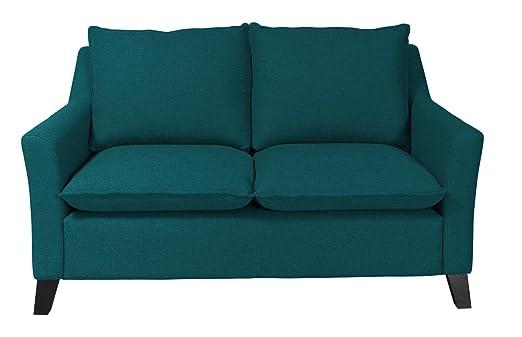 """Newlevel 2-Sitzer-Sofa """"Cyprus"""", 156 x 94 x 93 cm, Feinstruktur, petrol"""