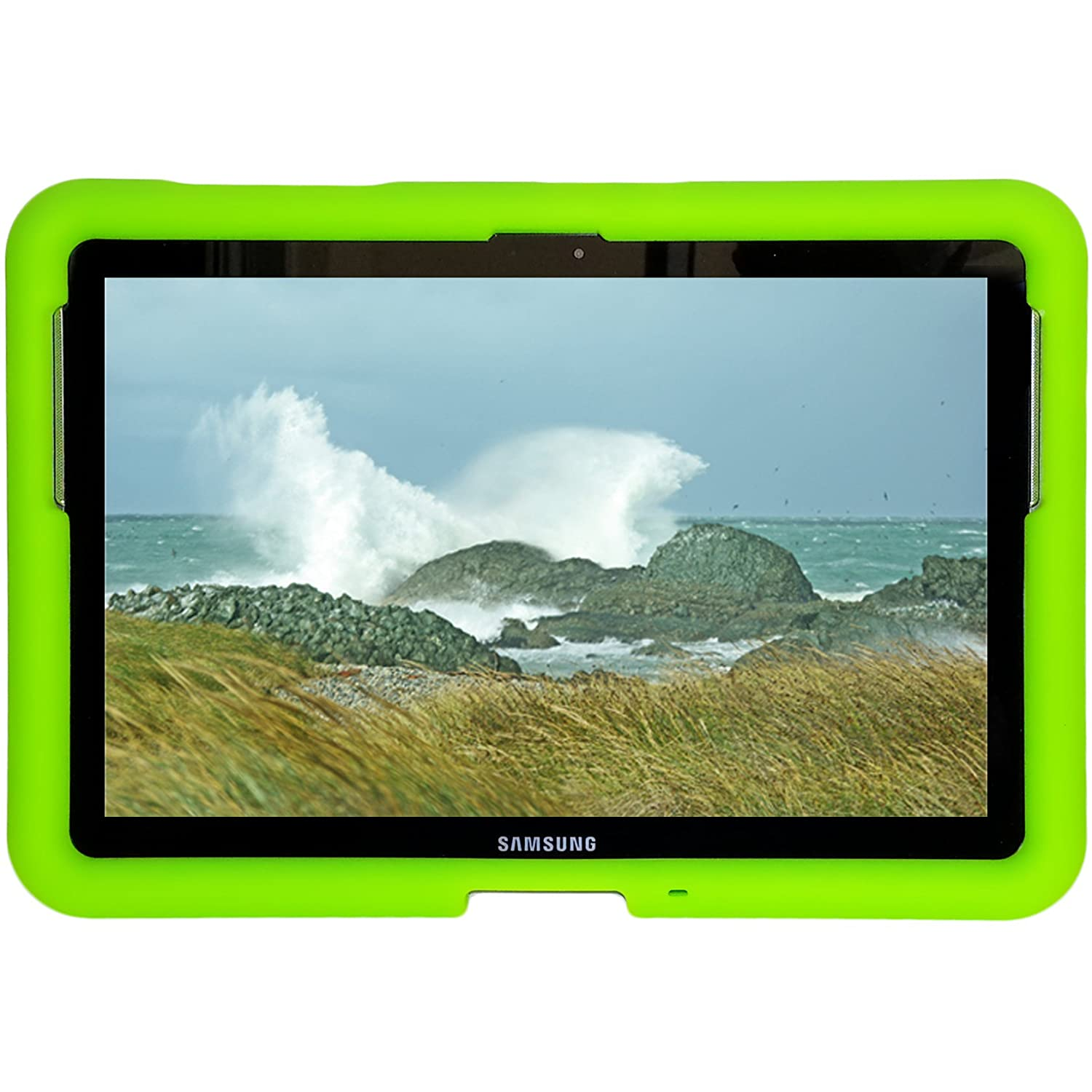 Bobj Rugged Case for Samsung 10.1 Galaxy Tab and Galaxy Tab2 - BobjGear protective cover - Gotcha Green