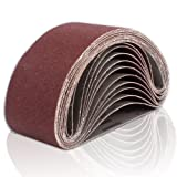 Coceca 12PCS Sanding Belts 3-Inch x 21-Inch 80 Grit Aluminum Oxide Sanding Belts For Belt sander (Color: 3-Inch x 21-Inch)