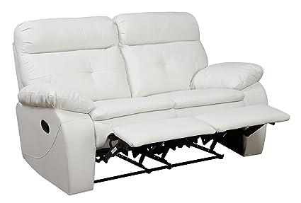 Glory Furniture G577-RL Reclining Loveseat, White