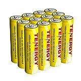 Tenergy Solla Rechargeable NiMH AA Battery, 1000mAh Solar Batteries for Solar Garden Lights, Anti-Leak, Outdoor Durability, 5+ Years Performance, 12 PCS, UL Certified (Tamaño: 12 Pcs)