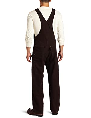 Carhartt Men's Sandstone Bib Overalls Unlined,Dark Brown,40 x 32 (Color: Dark Brown, Tamaño: 40W x 32L)