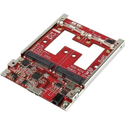 No Name RAID-Controllercarte [2x Micro-SATA-Kombi-Buchse 7+9pol. - 1x USB 3.1 femelle Micro B]