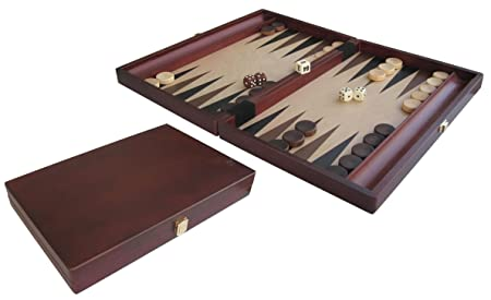 H.O.T. Games - Backgammon coffret brun