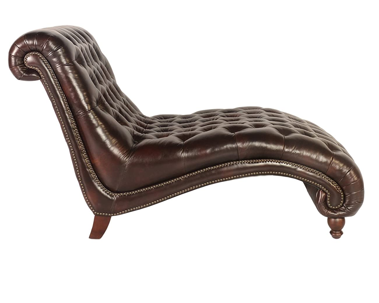 Lazzaro C3988 Double Chaise in Vintage Toberlone Leather 1