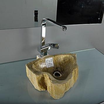 wohnfreuden fossiles waschbecken braun ca 40x30x12 cm us270. Black Bedroom Furniture Sets. Home Design Ideas