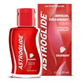 Astroglide Strawberry Liquid, Water Based Personal Lubricant, 2.5 oz. (Color: white, Tamaño: 2.5 oz.)