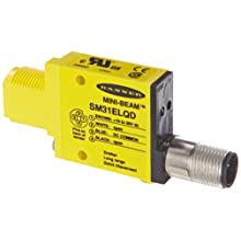 Banner SM31ELQD Mini Beam DC Photoelectric Sensor, Opposed Emitter Mode, 4-Pin European QD Termination, 30m Sensing Range