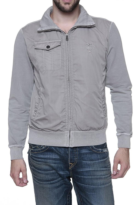 Aeronautica Militare Herren Blouson-Jacke ELEMENTO, Farbe: Grau günstig online kaufen