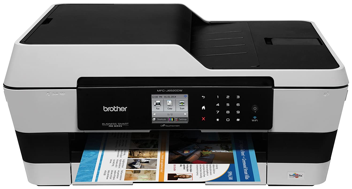 Brother Printer MFC-J6520DW Wireless Color Printer with Scanner, Copier and Fax)