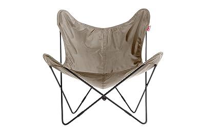 ROOMOX BFLY-NYBL-Khaki Klappbarer Polyester Sessel Zusammensetzbar, Stoff, schwarz, 81 x 83 x 89 cm