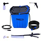 EasyGoProducts Rinse All EW10 –12V Powered Car Washer Kit - 7 Gallons Portable High Pressure Camping Shower - Car or Pet Washer with easy Twist On Off Flow Shower Head-12.5 ft Hose and Accessories