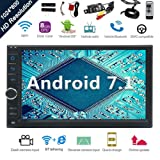 Android 7.1 32GB 2GB Car Stereo Radio with Octa Core Bluetooth GPS Navigation Support Fastboot WiFi MirrorLink USB SD Backup Front Camera 7¡± 1024600 Capacitive Touchscreen Double Din + FREE Dual Cam (Color: Android 7.1,2GBRAM,32GBROM,Octa Core,FREE Dual Cam)