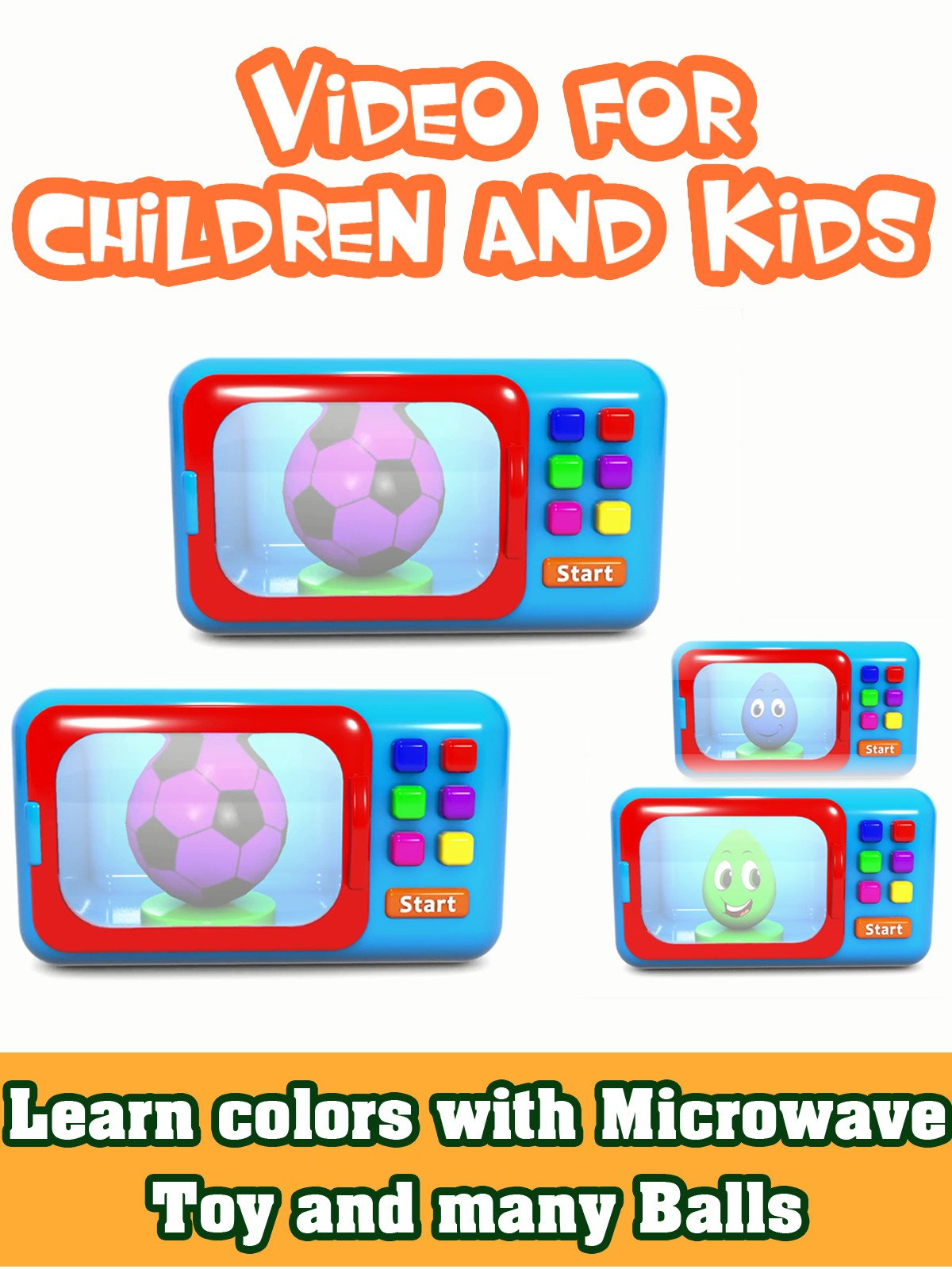 Learn colors with Microwave Toy and many Balls