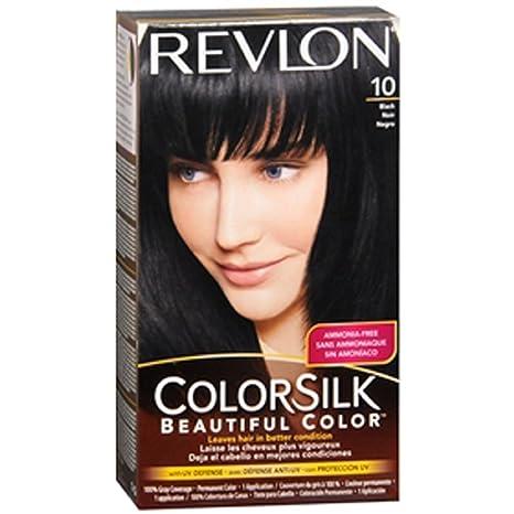 Revlon Colorsilk Permanent Hair Color - Black (10/1N) at amazon