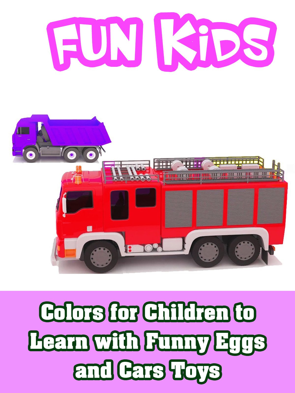 Colors for Children to Learn with Funny Eggs and Cars Toys