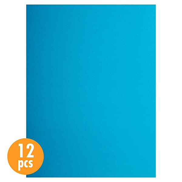 CTG, EVA Foam Sheets, 9 x 12 inches, Sky Blue, 12 Pieces (Color: Sky Blue, Tamaño: 9 x 12 inches)