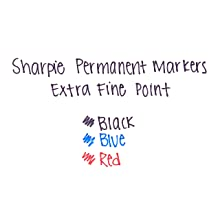 Sharpie 35002 Extra Fine Permanent Marker, Red, 12-Pack