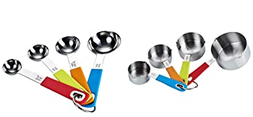 Cook N Home 8-Piece Stainless Steel Measuring Spoon and Cup Set at amazon