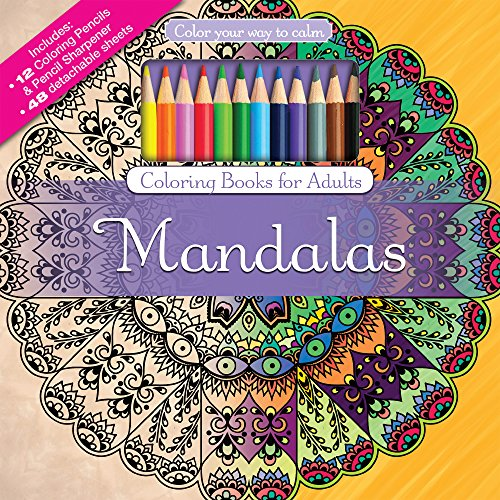 ADULT COLORING BOOK: Mandalas Stress Relieving Designs INCLUDES Color Pencils and Pencil Sharpener