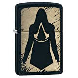 Zippo Assassin's Creed Pocket Lighter, Black Matte (Color: Black Matte)