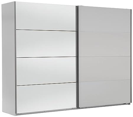 Wimex 507059 Schwebeturenschrank, 225 x 210 x 65 cm, alpinweiß / spiegel