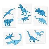 CODOHI 5 Dinosaur Animals Stencils Set - Tyrannosaurus Rex Triceratops Pterosaur Raptor Designs, A4 Templates for Arts Card Making Journaling Scrapbooking DIY Furniture Wall Floor Deco (11.7