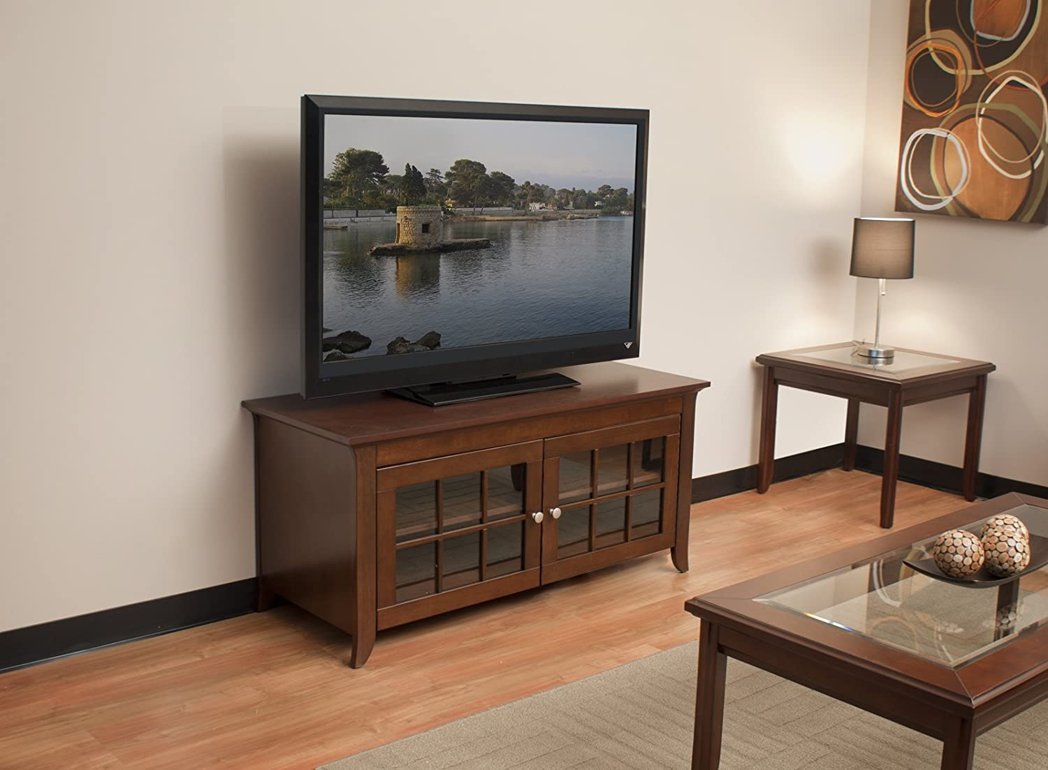 CRE48 48-Inch Wide Flat Panel TV Credenza - Walnut Beautiful ...