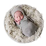 Sunmig Newborn Baby Stretch Wrap Photo Props Wrap-Baby Photography Props (Light Grey) (Color: Light Grey, Tamaño: 0-3 Month)